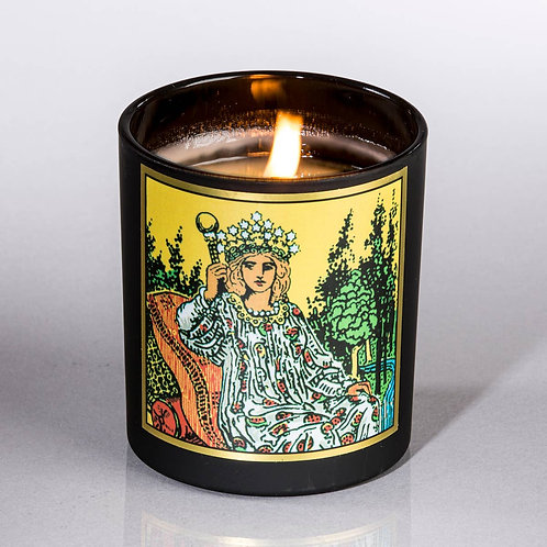Tarot Empress Candle-  Abundance. Prosperity. Fertility. Growth. Love. Pleasure