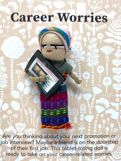 Worry Doll- Career- Dreamcatchers & Spiritual Amulets- Remove Worry