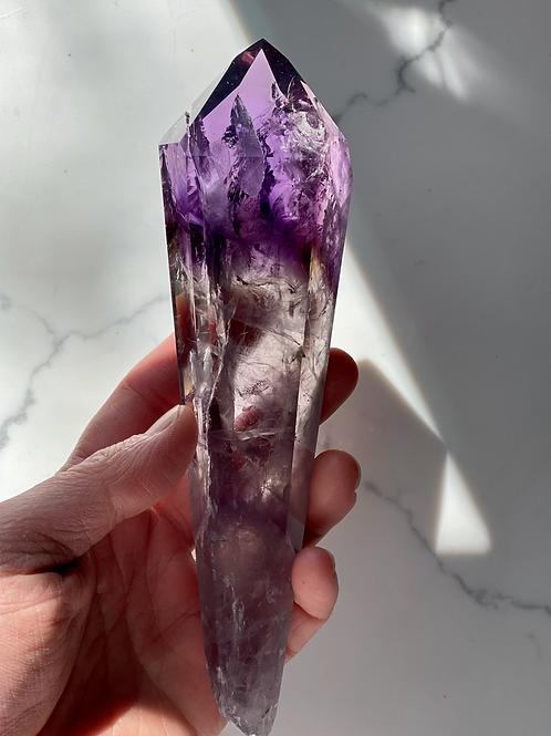 High Quality Natural Amethyst Polished Point -Violet Flame, Cleanse Karmic Debt