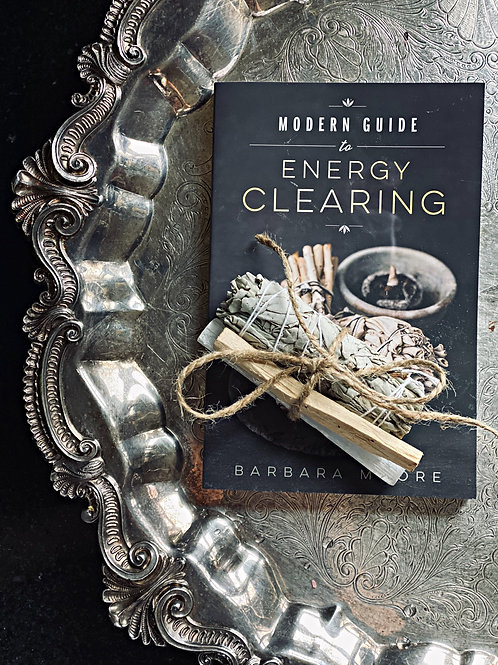 Modern Guide to Energy Clearing Book + FREE Sage & Selenite Bundle