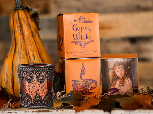 Fall And Holiday Collection - Sippin' Cider By The Fire -  Gypsy Wicks Candles