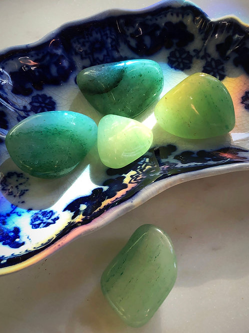 Aventurine Tumbled Gemstone- For Luck, Money, Gambling, Lady Luck, Regeneration