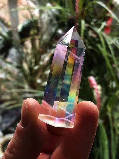 Angel Aura Quartz Crystal Point