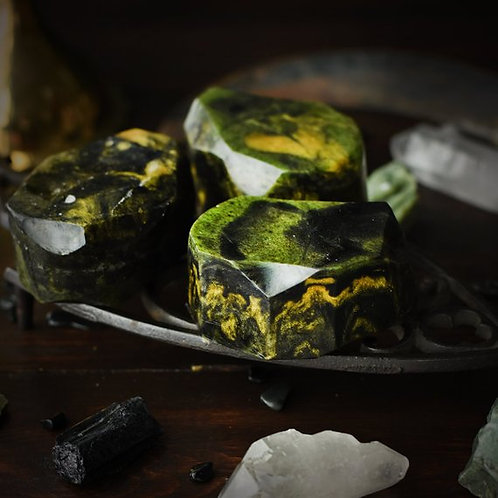 Swamp Witch- Gemstone Soap- From Black Apron Goods