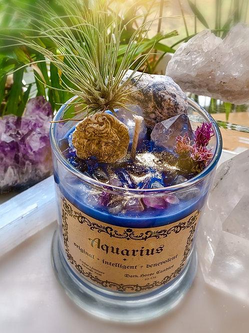 Aquarius Zodiac Candle - Creativity, Manifestation, Power of the Mind