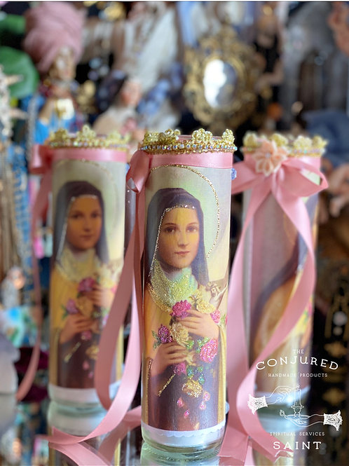 St. Therese of Lisieux  Candle - The Little Flower - Spiritual Growth, Anything