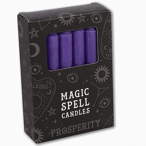 PURPLE SPELL CANDLES. 12Pack - Prosperity and Spirt