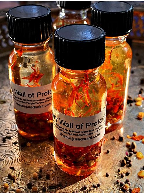 Fiery Wall of Protection Oil- Spiritual Protection, Removes Negative Forces, hoodoo oil, conjure oil,  Hoodoo, Voodoo, Wiccan