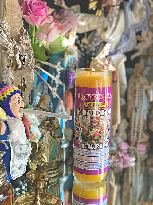 Ekeko -Mr. Money Hoodoo 7 Day Ritual Candle- Offering, Good Luck, Good Fortune