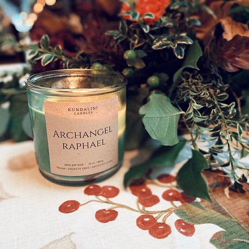 Archangel Raphael Soy Candle- Healing Physically, Mentally or Spiritually.