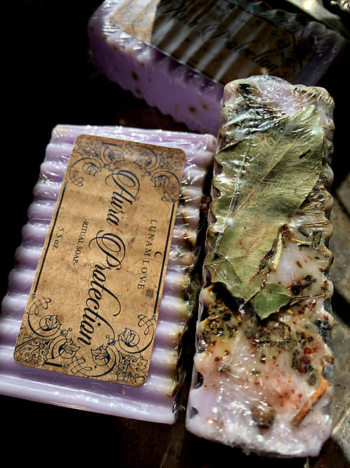 Aura Protection Bar Soap- Rise Above Negative Thoughts, Cleanse Your Aura
