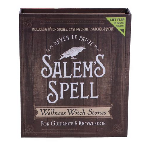 Salem's Spell Kit Set of Six Witches Wellness Stones in Decorated Box