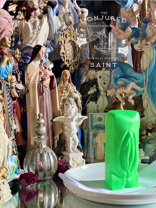 Vagina Candle  - Green - Fertility Rituals, Sugar Daddy Ritual, Goddess Rituals