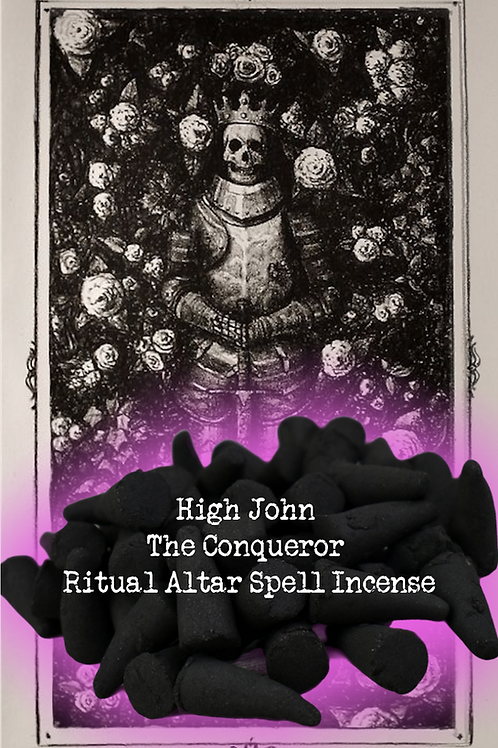 High John The Conqueror Ritual Altar Spell Incense - Personal Power & Success