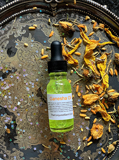 Ganesha Oil- Destroyer of Obstacles & Blockages. Brings Success & Wealth. Ritual oil