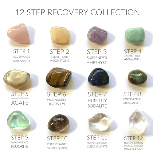 12 Step Recovery Crystal Collection- Courage