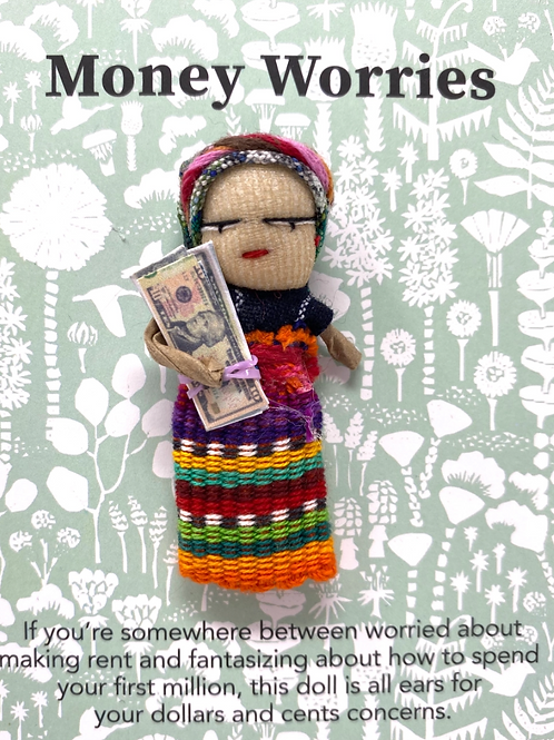 Worry Doll-Money- Dreamcatchers & Spiritual Amulets- Remove Worry