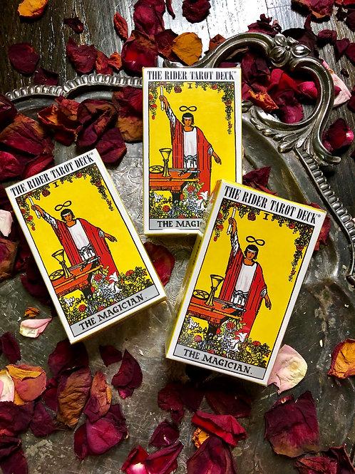 The Rider Tarot Deck- Traditional Tarot Deck-78 Cards + Free Small Sage Wand