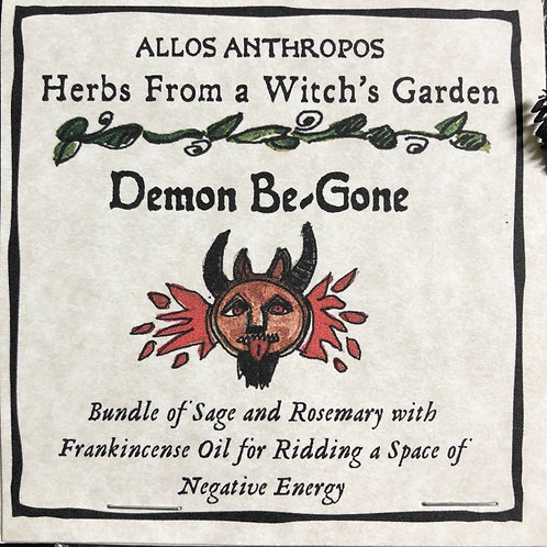 Demon Be-Gone Smudge Stick- Herbs from a Witch's GardenPagan, Hoodoo, Witchcraft, Juju, Magic