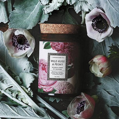 Botanical  | Wild Rose + Peony | Candle