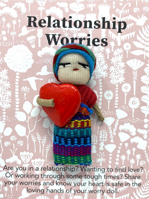 Worry Doll- Relationship- Dreamcatchers & Spiritual Amulets- Remove Worry