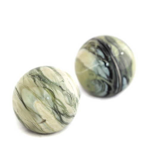 Silver Lace Jasper Gemstone Sphere- Whole-body Wellness Stone.