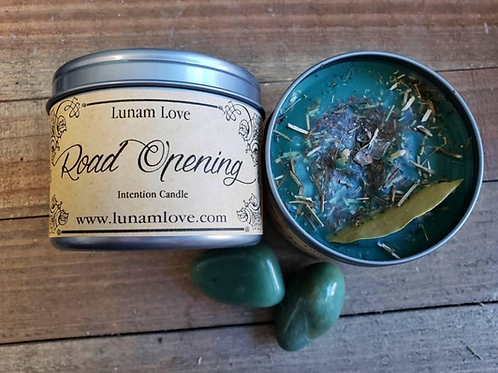Road Opening Intention Candle- Clear Your Pathway, Bright Future, Open Doors
