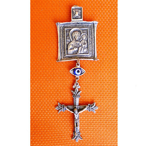 Blessing & Protection Wall Hanging Amulet with Glass Evil Eye