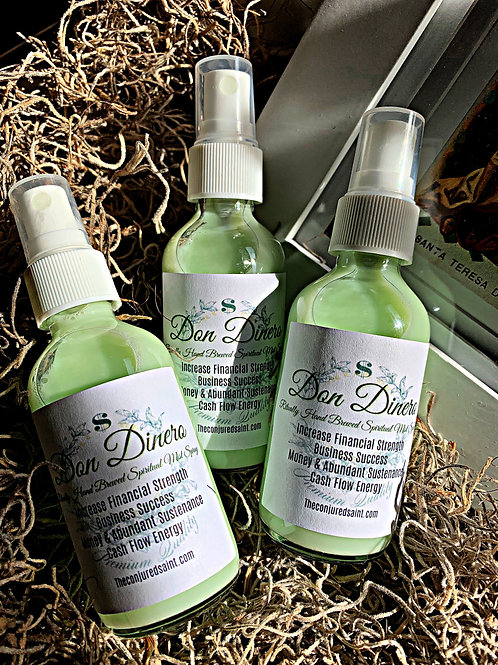 Don Dinero Ritually Hand Brewed Spiritual Mist Spray- Bring in Cash, Blessings