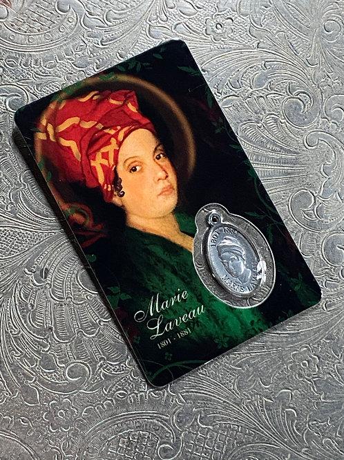 Marie Laveau Prayer Card & Charm- Grants Requests, Power, Love, Money