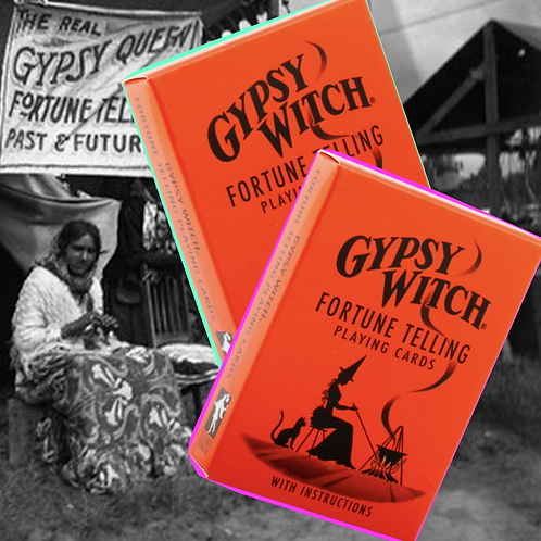 Gypsy Witch Fortune Telling Playing Cards Deck + FREE GIFT