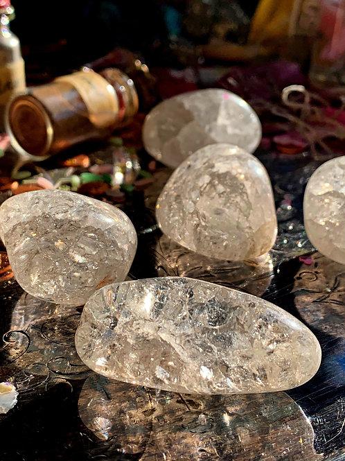 Crackle Quartz Gem Stone- Excellent Amulet to Avoid Evil Energy.