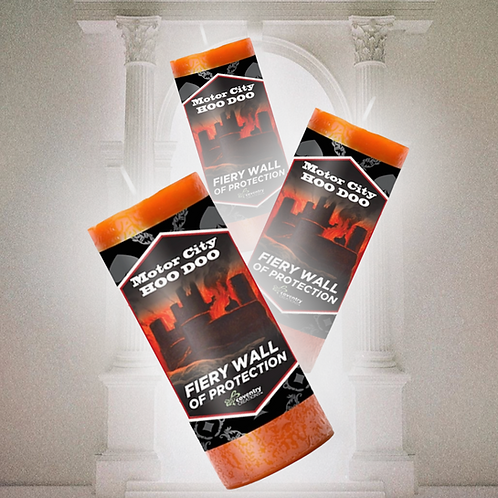 Fiery Wall of Protection Candle- Protection Home & Family