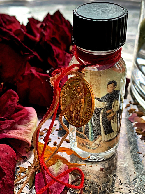 St. Martin de Porres Miracle Oil-  Housekeepers, Veterinarians, Lost Pets, Love