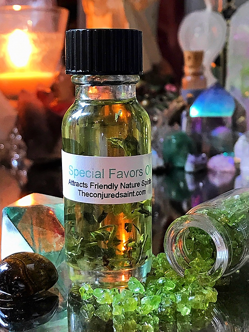Special Favors Oil- Attracts Nature Spirits, Altars, Luck and Success