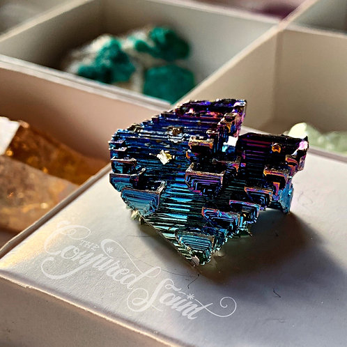 Bismuth Crystal - Becoming Humble, Achieving Spiritual Growth, Building Virtues