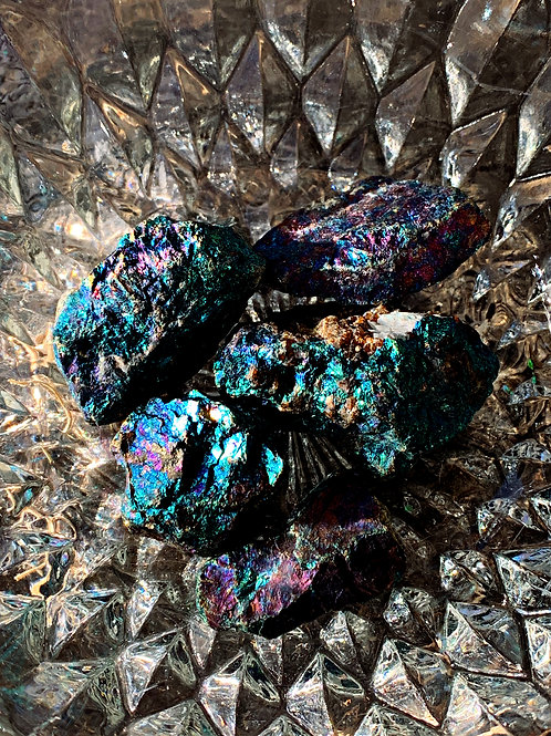 Stone of the Mystic- Chalcopyrite- Happiness, Abundance. Positive Forces
