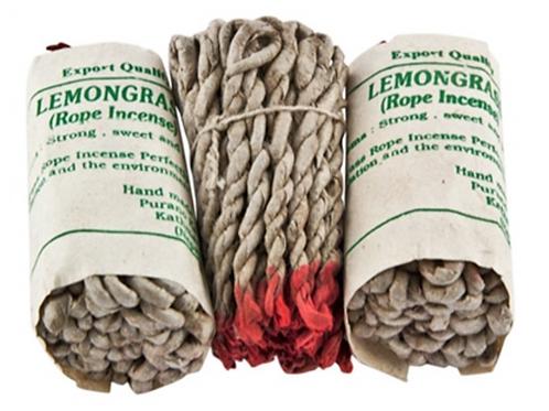 Hand-Made Lemongrass Tibetan Rope Incense