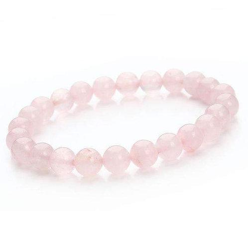 Rose Quartz Energy Gemstone Bracelet -Fulfillment, Love, and Healing.