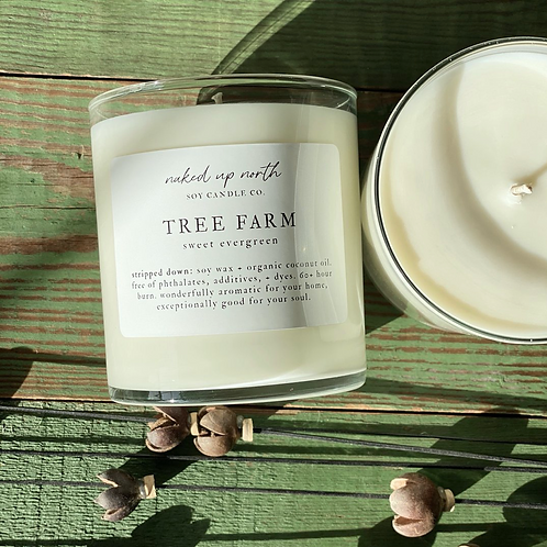 ree Farm- Sweet Evergreen- Holiday Candle