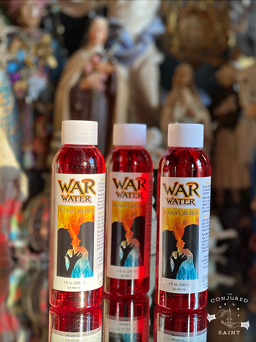 War Water 4 oz Bottle -Protection, Uncrossing and Unhexing