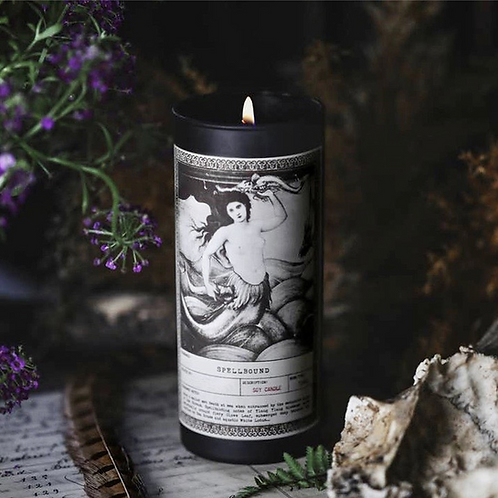 Spellbound Ritual Candle With Ylang Ylang, Clove Bud, Sea Grass & White Lous.