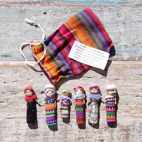Guatemalan Worry Doll- Dreamcatchers &  Spiritual Amulets- Remove Worry