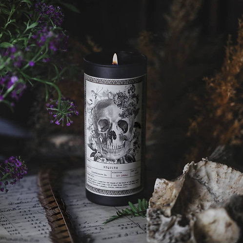 NOIR | Requiem | Ritual Candle | 9oz