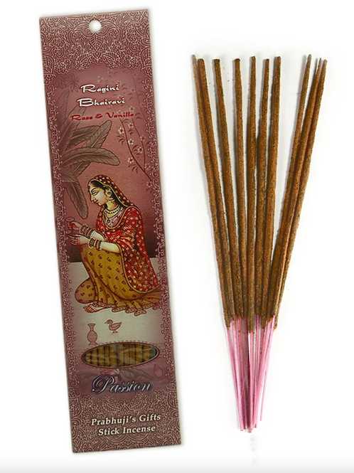 Incense Sticks - Ragini Bhairavi - Rose and Vanilla - Passion, Romantic Love
