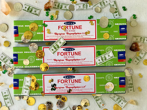 Satya Nag Champa Fortune Incense- Money Blessings