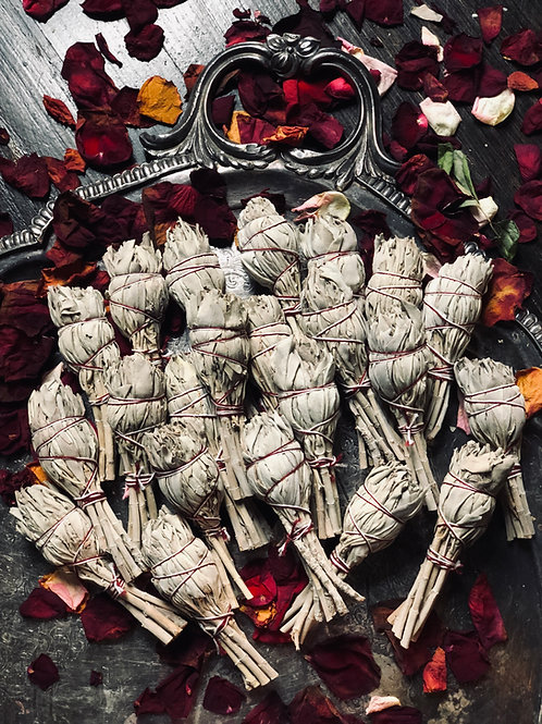 White Sage Smudge Wand 3in- For Cleansing and Clearing the Home of Negativity