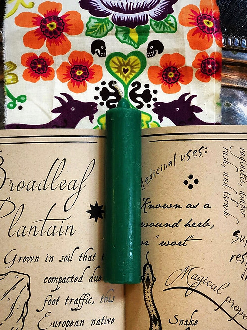 Green Spell Candle- Prosperity, Money, Financial Success, Good Job, Abundance, Hoodoo, 7day candle, Wiccan, Pagan