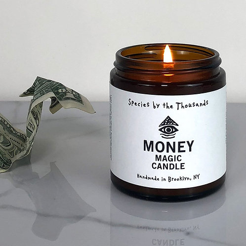 White Magic Money Candle- Attract Financial Success and Profit