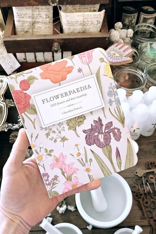 Flowerpaedia 1000 Flowers & their Meanings by Cheralyn Darcey + Free Crystal